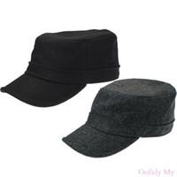 Army accessori Gofuly 2014 uomini eccellenti di stile militare dei cappelli  Flat Top inverno caldo regalo Freeshipping be5e6330f8a2