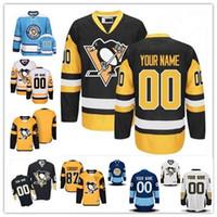 Wholesale Penguin Classics - Stitched Custom Pittsburgh Penguins mens womens youth Black Third Gold Yellow White Navy Blue Winter Classic Stadium Series Hockey Jerseys