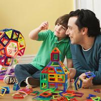 Wholesale Diy Blocks Pcs - Magnetic Blocks Kids Magnetic Toys Set 138 Pcs Creativity Educational Children's DIY Magnetic Tiles Set