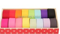 Wholesale Hairbow Set - Set of 100 yards assorted colors Widths (8mm-40mm) Grosgrain solid plain Ribbon for hairbow scrapbook Jewelry accessories