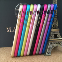 Wholesale Iphone Alloy Bumper - For iphone 6 4.7   Plus 5.5 inch Metal Bumper Luxury Aluminum Alloy Protective Case Cover For iphone6 4.7'' 5.5''