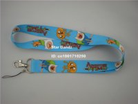 Wholesale Neck Lanyard Logo - Drop Shipping 1PC Printed Adventure Time Logo Polyester Lanyard, Work ID Card Neck Strap for Give Away Gift