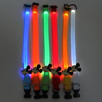 Wholesale Lovely Dog Collar - LED luminous necklace Tactic Bichon frise dog Lovely luminous pet collar The small dog dog pet traction circle.L6A