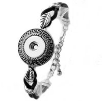 Wholesale silver jewellry sets - 10Style Colourful 18mm button snap vintage noosa bracelet ginger snap jewellry women interchangeable adjustable 2017 Chirstma