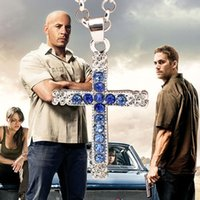 Fast and Furious actor Dominic Toretto / colgante collar de cruz, regalo para su novio colgante de cristal cruz 160460