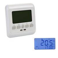 Wholesale Central Air Temperature - 16A LCD Digital Heating Thermostat Room Temperature Controller Weekly Programmable Display Warm Floor Heating BI010