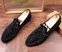 2017 Men Trendsetter Trendy Rhinestone Rivet charmoso Casual Shoes Masculino Homecoming Vestido Casamento Prom Sapato Social