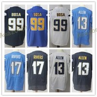 Elite Game Limited 17 Philip Rivers 99 Joey Bosa 13 Keenan Allen Jerseys Blue White Embroidery e 100% Stitched