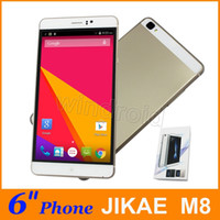 Wholesale Black French Models - JIAKE M8 6 inch MTK6580 512 4GB Android 5.1 960*540 Dual SIM 3G WCDMA Unlocked Smartphone Mobile phone Gesture wake Free case big screen