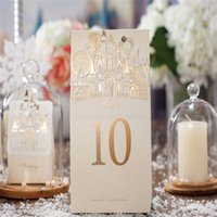 Wholesale Vintage Sign Numbers - 2016 European Church Creative Beige Sign In Table Place Cards Wedding Supplies Butterfly Wedding Table Numbers White Silver Vintage Shabby C