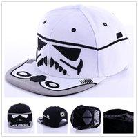 Wholesale Hat War - 2 colors Star Wars Caps Snapback Caps Cool Snapback Letter Baseball Cap Hip-hop Hats For Men Women LA183-6