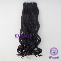 Wholesale Body Heat Head - New 21.65Inch 55Cm Long 3 4 Full Head Body Wave Clip In on Hair Pieces Extensions Heat Resistant 7Pcs Set Women Hairpiece