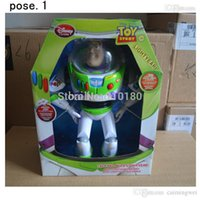 Cap spanish toy story - New Orignal Toy Story Buzz Lightyear light year cm PVC toys Spanish English in sound elastic wings Packed toy
