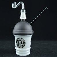 ingrosso tazze di quarzo-Vetro Dabuccino Starbuds Cup Dab Olio vetro Bong Recycler Concentrato Oil Rig 8