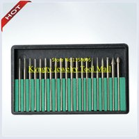 All'ingrosso-Libero 30 DIAMANTE BURS SET 1/8 di pollice ATTACCO grana media lapidaria JEWELERS ROTARY BITS DREMEL