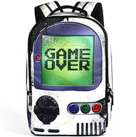 игра закончена оптовых-Game over рюкзак Sprayground дизайн рюкзак Player школьная сумка Классный рюкзак Спортивная школьная сумка Открытый день пакет