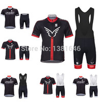 Wholesale Felt Jersey - Wholesale-2015 felt cycling jersey bicycle cycling tight bike short sleeves bib shorts set cycling tight maillot cycling mtb new