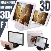 3d falten großhandel-Universal Handy Bildschirm Vergrößerer Verstärker Lupe 3D Video Display Folding Vergrößerte Expander Augen Schutz Halter Kleinpaket