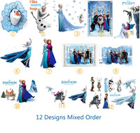 Wholesale Mix Order Nursery - DHL Ship Mix Order Removable Elsa Frozen Wall Stickers Olaf Decoration Princess Decorative Wall Decall for Kids Rooms Poster Wall Pape Art