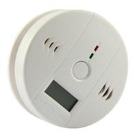 Wholesale smoke carbon detectors online - Free DHL CO Carbon Monoxide Detector Smoke Home Alarm Safety Gas Fire Poisoning Warning Alarm Sensor Battery Operated Alert LED Display