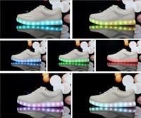 Wholesale Lighting Usb Genuine - 7 Colors LED luminous shoes unisex sneakers men & women sneakers USB charging light shoes colorful glowing leisure flat shoes1