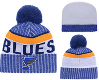 New Beanies Team Blues 2017 Calda maglia Hockey Beanie Pom Pom Knit Hats Baseball Calcio Basket Berretti Grigio Mix Match Ordine Tutti i tappi