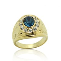 Wholesale Jewelry Sales 18 K - Hot sale classic joker men's jewelry, crystal ring.High quality 18 k gold plated.Free shipping.2 crystal colours to choose from.