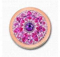 mi moneda монеты оптовых-Deluxe Mi Moneda розовое золото георгин монета кулон 33 мм для 35 мм держатель монеты FO-284 кулон цепь