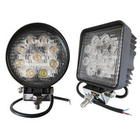 Wholesale Off Road Led Driving Light - 4 inch 27W led work light lamp offroad Spot Flood 12V led tractor work lights for Trucks off road 4X4 car ATV boat fog driving
