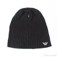 Wholesale Plains Ga - 2017 Fashion Unisex new brand Spring winter armanies men warm knitted hat GA men's outdoor casual sports beanie women Gorros touca caps