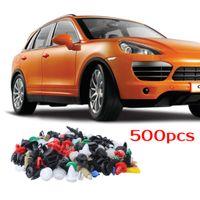 evrensel araba kaplaması toptan satış-Evrensel Araba Kapı Oto Paneli İç Kart Trim Klip Toka Tampon 500 Adet Set