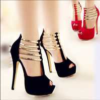 Wholesale High Ballroom - 2017 New Luxury Gold Strap Ballroom Dance Shoes High Heels Sandals Women Heels Elegant Wedding Bridal Shoes