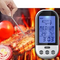 Wholesale Digital Wireless Thermometer Kitchen - Digital Wireless Remote Kitchen Oven Food Cooking BBQ Grill Smoker Meat Thermometer With Sensor Probe,Temperature Gauge&Alert