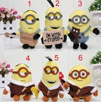 Wholesale Minion Plush Toy Small - 30pcs lot 12cm Despicable Me 3 Minions Bob Soft Stuffed Plush Small pendant Doll For Kid Toy Gift