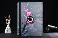 Wholesale tablet europe resale online - 25pcs For iPad Pro Retro Europe Rotation butterfly Eiffel Tower flower painting Case Leather Cover Stand Shell Tablet Case inch