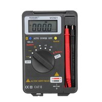 Wholesale pocket multimeter - VC921 pocket size auto range 4000 counts digital multimeter solid housing mini tester with organized and integrated test leads