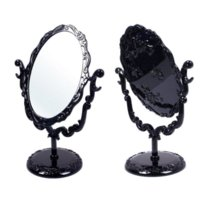 Wholesale Butterfly Mirror Compacts - Desktop Rotatable Gothic Small Size Rose Makeup Stand Compact Mirror Black Butterfly HSD #57700 makeup beautiful