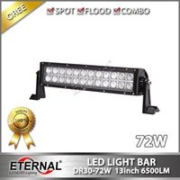 Hot 12in 72 W Jeep Ford trattore raccolta rimorchio camion super luminoso led light bar 4WD fuoristrada Jeep ATV UTV luce di lavoro