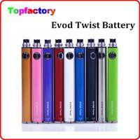 Wholesale Ego Compatible Batteries - EVOD Twist Battery for Electronic Cigarette Variable Voltage 3.3-4.8V 650mah 900mah 1100mah Compatible with all series eGo Kit E cigarette