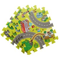 Wholesale Eva Play Mats - Baby EVA Foam Puzzle Play Floor Mat,Education and Interlocking Tiles  Traffic Route Ground Pad City and Building Rug playmat