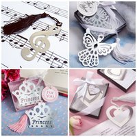 Wholesale Musical Party Supplies - Metal Silver Bookmark Crown Musical Note Heart Eagle Shape Wedding Centerpieces Bookmarker Hollowed Out Design Bookmarks Portable 1 25ab B