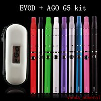Wholesale Electronic Cigaret Kit - EVOD AGO G5 kit Smoke Dry Herb Vaporizer Ago G5 Atomizer Clearomizer for Wind proof E-Cigarette Dry Herb Vaporizer G5 Pen electronic cigaret