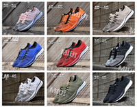 Wholesale Knitted Elastic Band - 2017 New Orange Flywire Knit Men Women Casual Racer Trainer Black Red Blue Grey Oreo Retro Lightweight Breathable Walking Shoes EUR 36-45