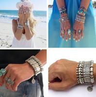 ethnische feste großhandel-Boho Antalya Münze Armband Silber Gypsy Statement Coachella Festival türkische Schmuck Sinaya Tribal ethnischen Schmuck