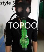 Wholesale Wholesale Gas Mask Filters - Mask bongs Gas Mask Water Pipes -Workplace Safety Supplies Sealed Acrylic Hookah Pipe - Vaporizer - Filter Smoking Pipe HJ0001