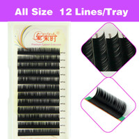Wholesale Eyelash Extension Individual D Curls - 3D Volume Natural Eyelash Extension False Eyelashes Individual Eyelashes Makeup Tool Korea Fiber 4 Trays B C D Curl 8-15mm