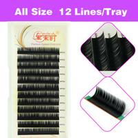 extensions de cils curl achat en gros de-Volume 3D Extension de cils naturels Faux cils Cils individuels Outil de maquillage Corée Fibre 4 Plateaux B C D Curl 8-15mm