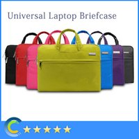 Wholesale 13 Laptop Case Handle - Notebook Tablet Laptop Sleeve Case Bag carrying handle briefcase for 11 12 13 14 15inch macbook air pro retina laptop Asus maletin portatin