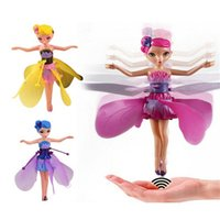 Wholesale Remote Control Birds - Newest Flying Fairy Dolls Elsa Toy Infrared Induction Control Flying Dolls For Girls Remote Control Flying Toys For Children