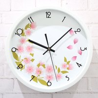 outside world - world outside the garden wall clock flowers florid fashion watches quartz clock mute simple creative garden